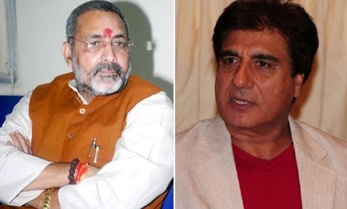 raj babbar offers to bear charges of giriraj singh s mental