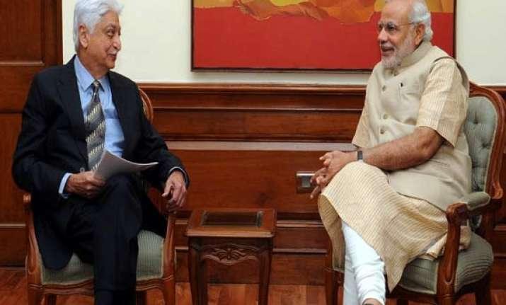 azim premji calls on narendra modi