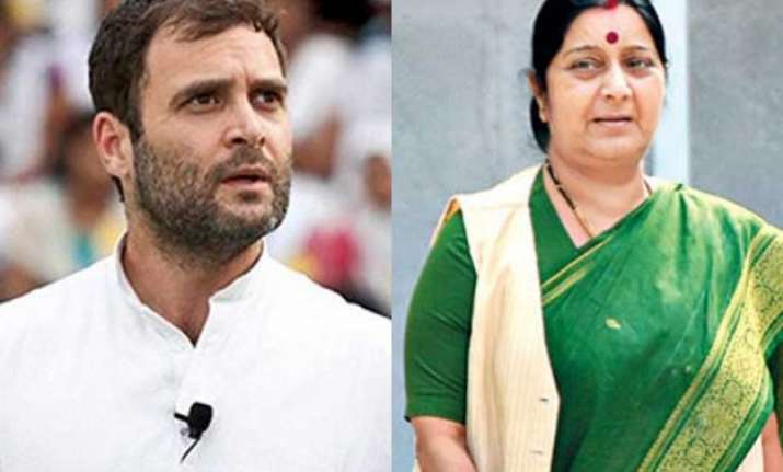 sushma should disclose how much her family was paid rahul
