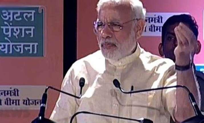 pm modi launches 3 social security schemes
