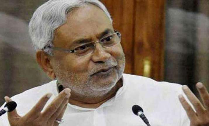 bihar polls development is mukhauta for bjp says nitish