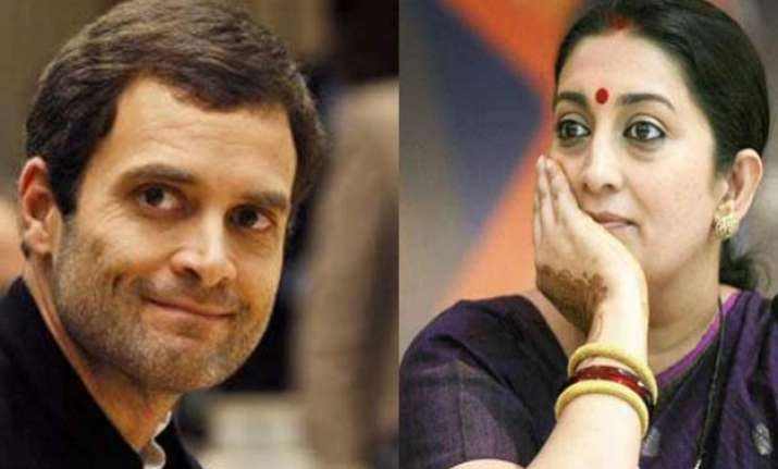 smriti irani asks rahul gandhi to join the politics of