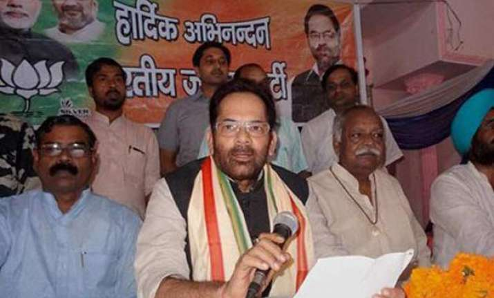 mukhtar abbas naqvi disapproves of v k singh s dog remark