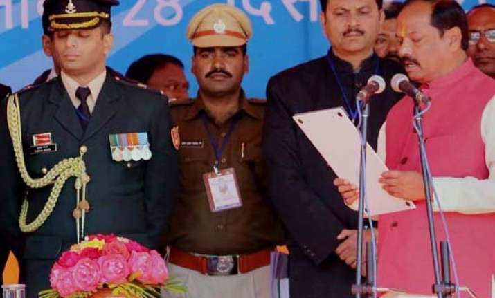 in pics jharkhand bids 2014 goodbye with stable mandate