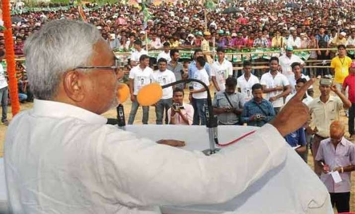 bjp trying to communalise bihar election atmosphere nitish