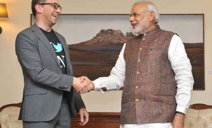 pm modi meets twitter ceo urges site to help promote india