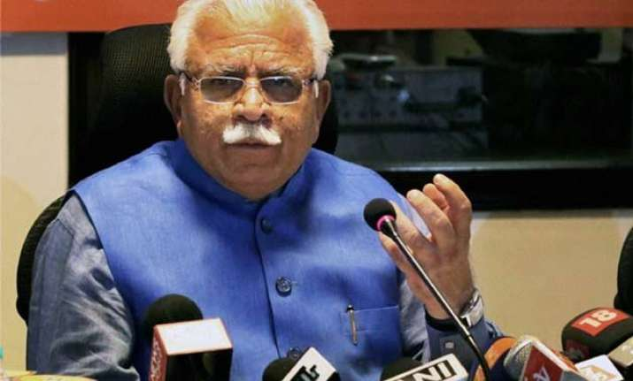 haryana cm khattar claims dalit boy committed suicide