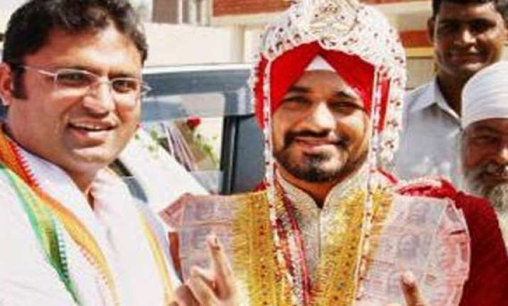 haryana polls groom chooses polling booth before wedding