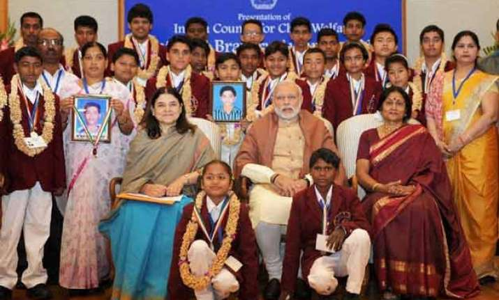 25 children receive bravery awards from pm modi