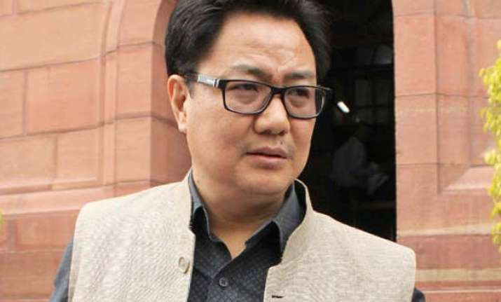 congress trying to project naga peace pact negatively kiren