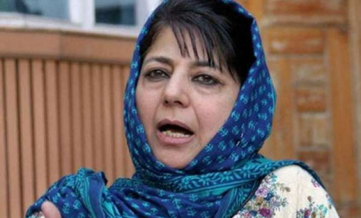 bizarre mehbooba mufti blames media coverage of high