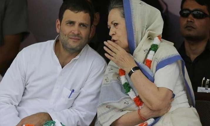 bjp hits back at sonia and rahul gandhi