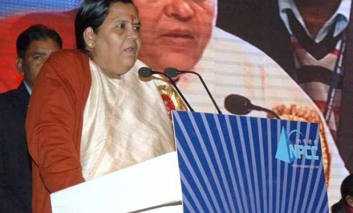 uma bharti urges psus to join clean ganga mission