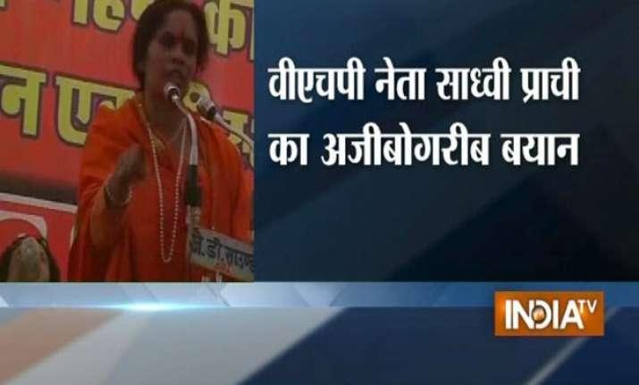vhp leader echoes sakshi s remarks on four kids