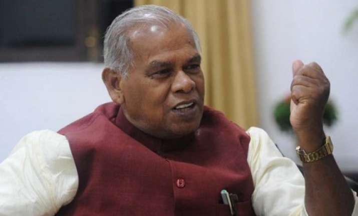 nitish kumar may not be cm candidate hints jitan ram manjhi