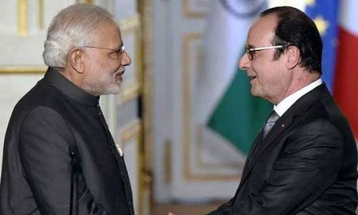 pm modi bids farewell to hollande says france is special