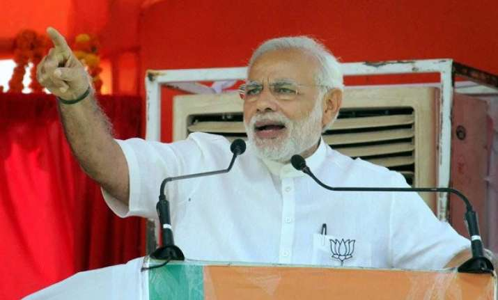bihar polls pm modi describes rjd jd u congress 3 idiots