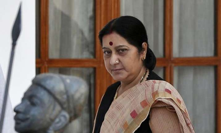 sushma swaraj meets families of 11 indians detained in