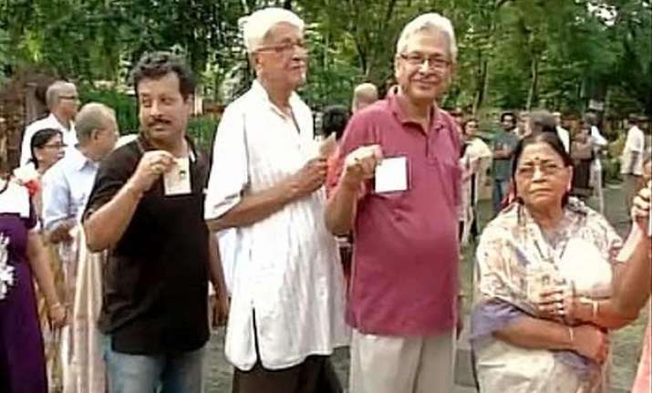 local body polls underway in bengal