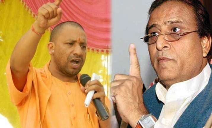 yogi adityanath slams azam khan over his un move