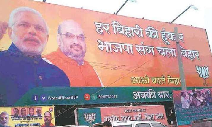 poster wars reach a crescendo in patna ahead of polls
