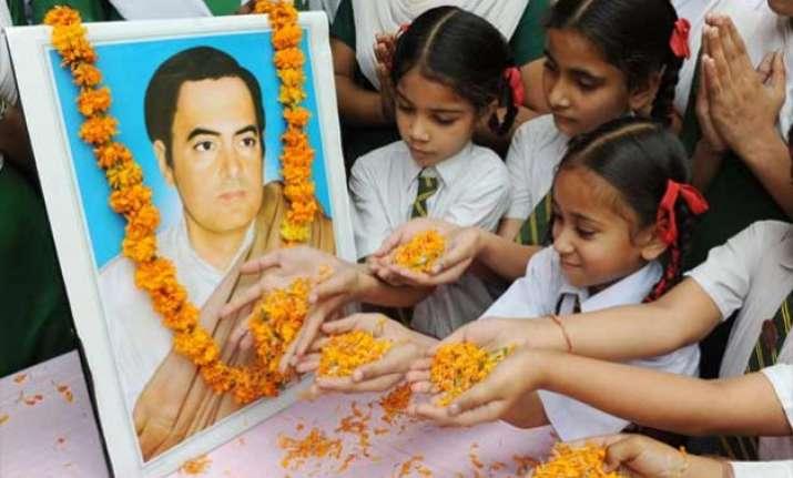 modi govt calls for fitting commemoration of rajiv gandhi
