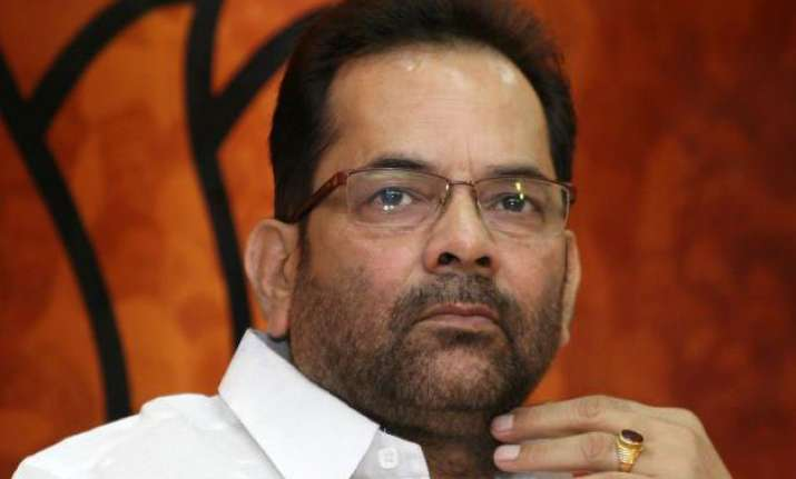 bjp to go solo in 2017 up assembly elections mukhtar abbas