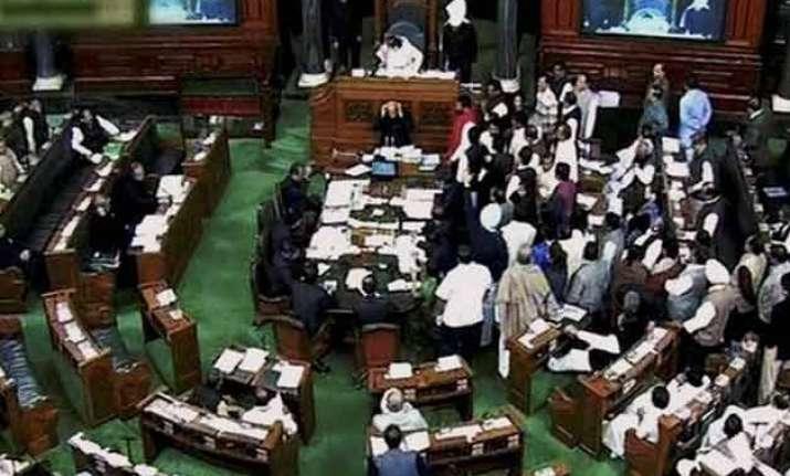 lok sabha disrupted over giriraj singh s remark against
