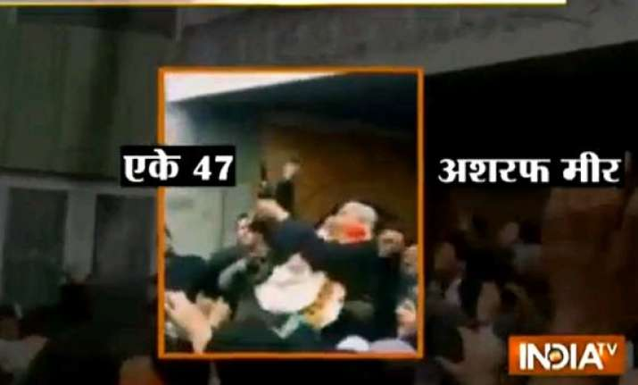 in video pdp mla who defeated omar abdullah firing his