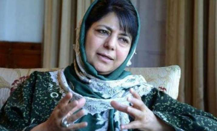 pdp chief mehbooba mufti defends father s statement