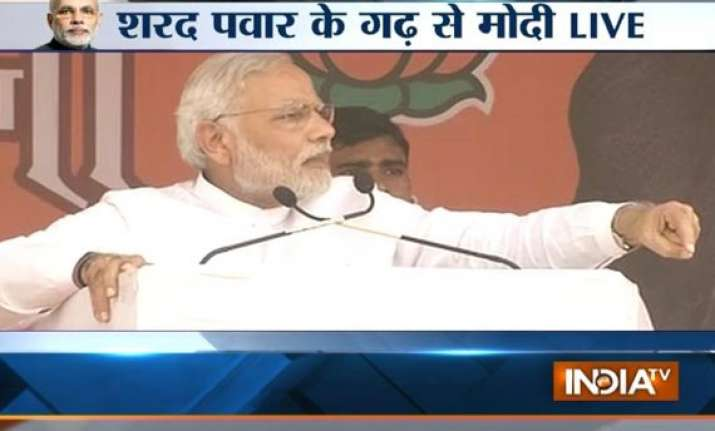 maharashtra polls throw ncp out modi tells voters in pawar