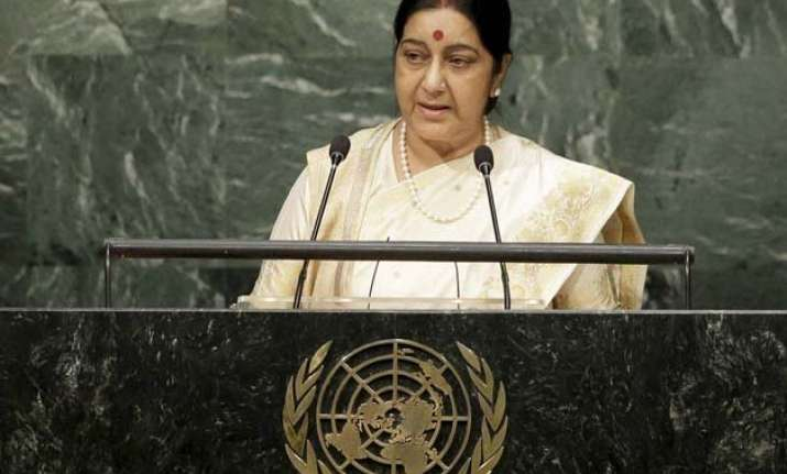 sushma swaraj thanks pm modi for inspirational message