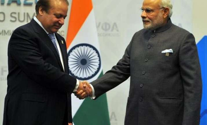 pm modi holds bilateral talks with nawaz sharif