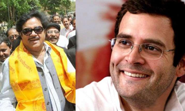 shotgun denies politics behind praising rahul
