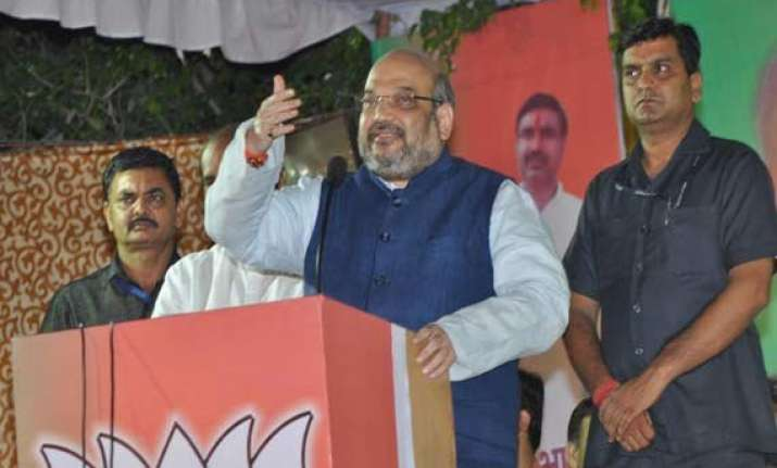 amid sadhvi row amit shah asserts bjp s objective is social