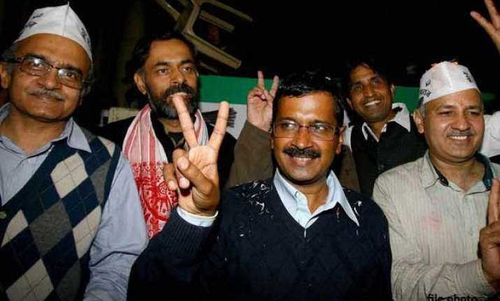internal struggle shows aap like any other party say rivals