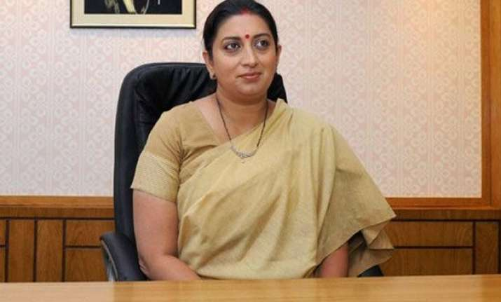cbse apologizes to smriti irani for spelling mistake in