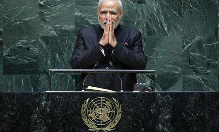 pm modi expected to address un sustainable development