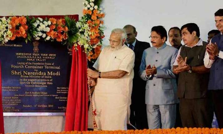 pm modi lays foundation stone of jnpt s rs 7 900 cr 4th