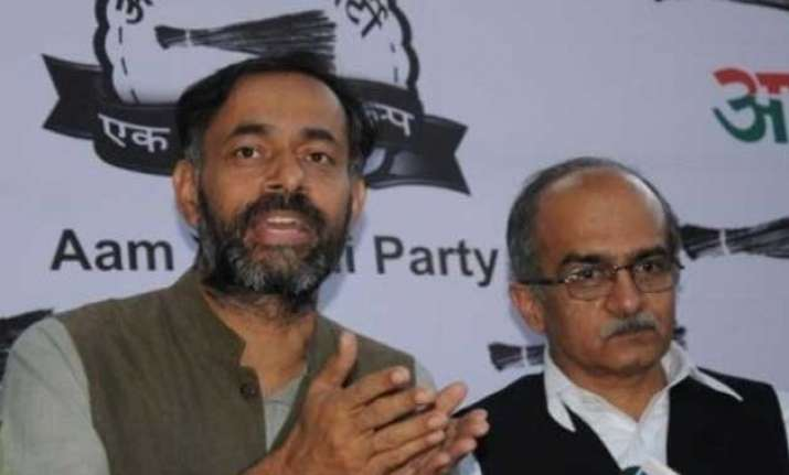 aap crisis support for yadav bhushan swells