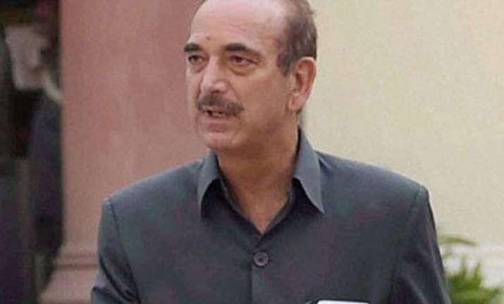union ministers spreading communalism ghulam nabi azad