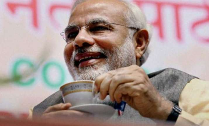 pm narendra modi to meet nda mps over tea today