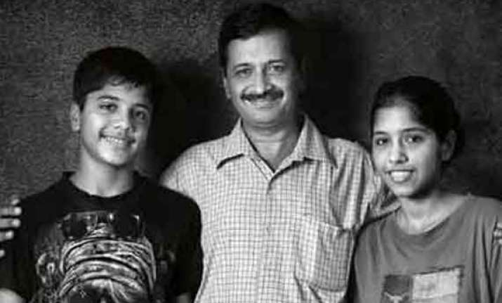in pics arvind kejriwal and his children