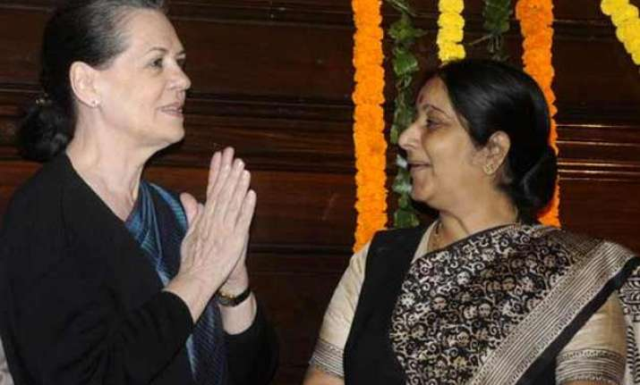 sonia rahul enquire about sushma s health