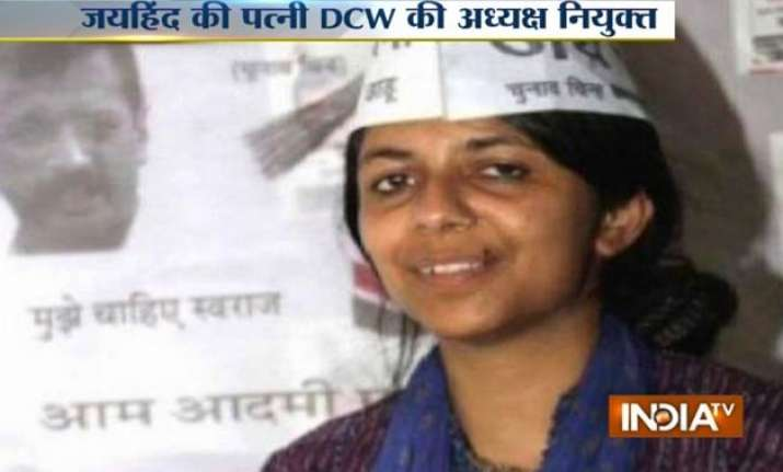aap leader naveen jaihind s wife swati maliwal to be new
