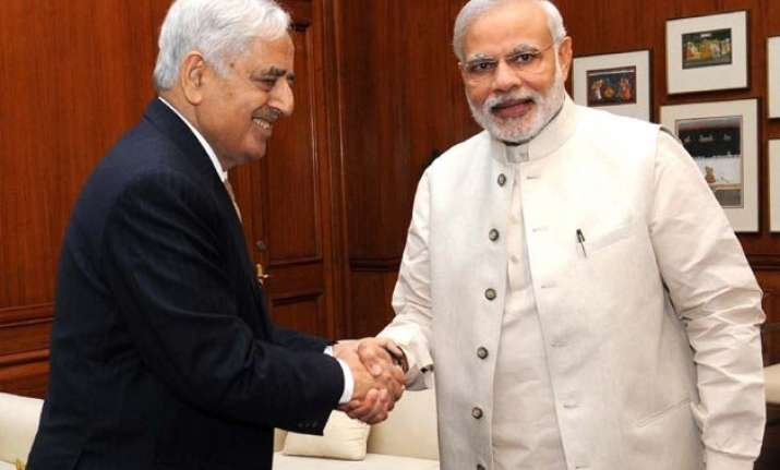 mufti mohammad sayeed meets pm modi on fast tracking