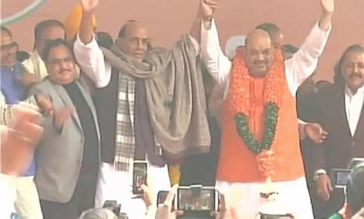 amit shah unanimously elected bjp president for next 3 years