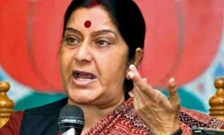 sushma asks haryana electors to vote without fear
