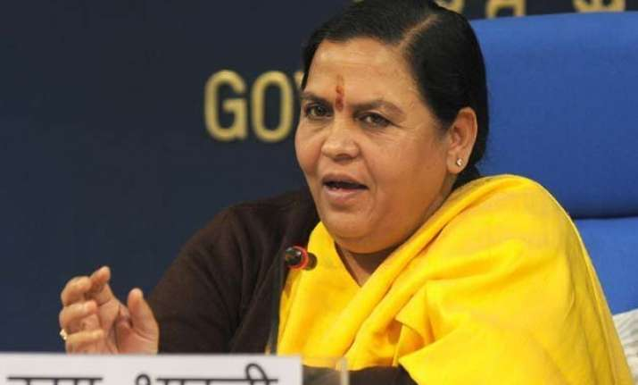 uma bharti s supporters stop train for late minister