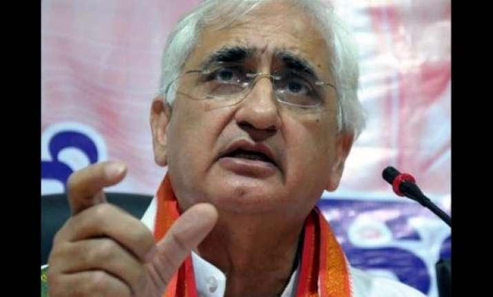 salman khurshid takes on narendra modi government over